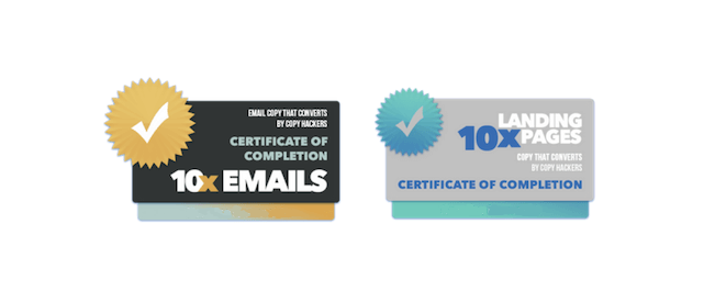 10x Emails certificate