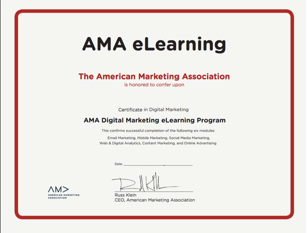 AMA digital marketing professional certificate-1