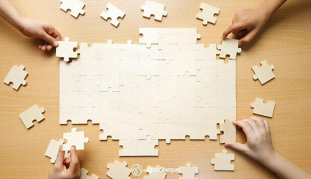 Building an Agile team character is smilar to solving a puzzle
