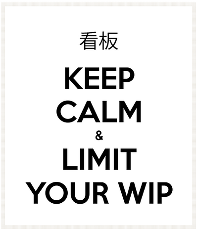 keep calm and limit WIP