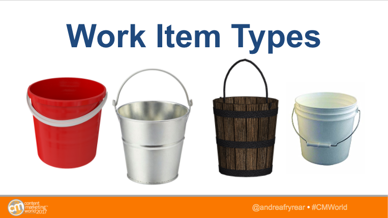 agile marketing work item types buckets
