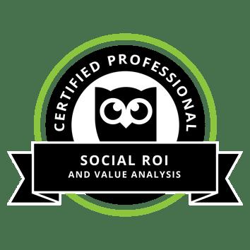 Social ROI certificate